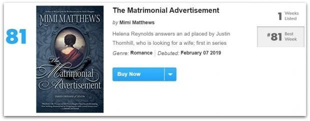 USA Today Bestseller List The Matrimonial Advertisement e1549522490299