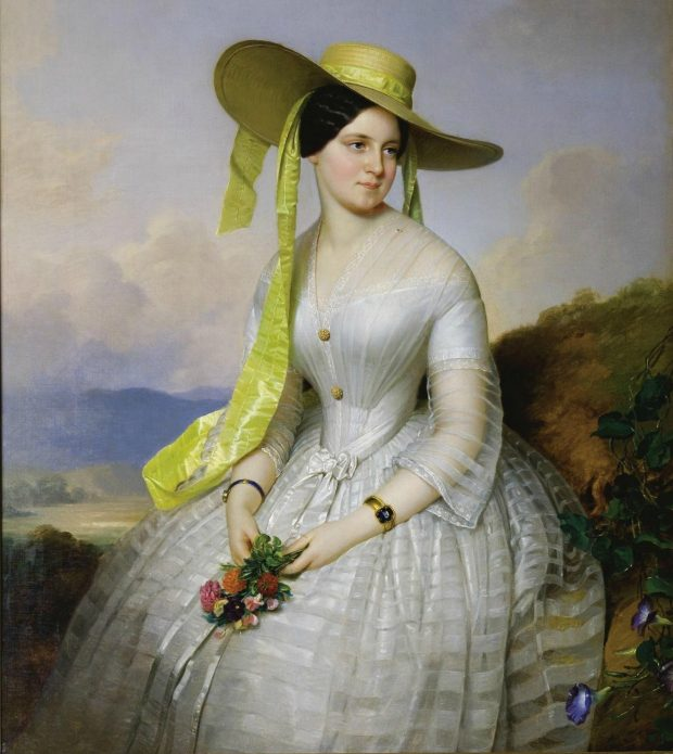 Portrait of a Lady with Hat by Anton Einsle 1801 1871 e1560715280231