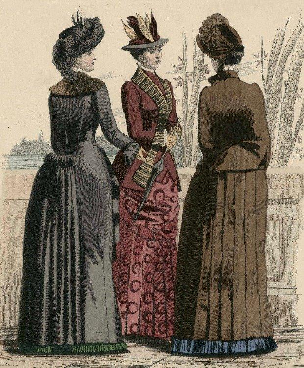 Journal des Demoiselle Womens Fashion 1883 via Met Museum
