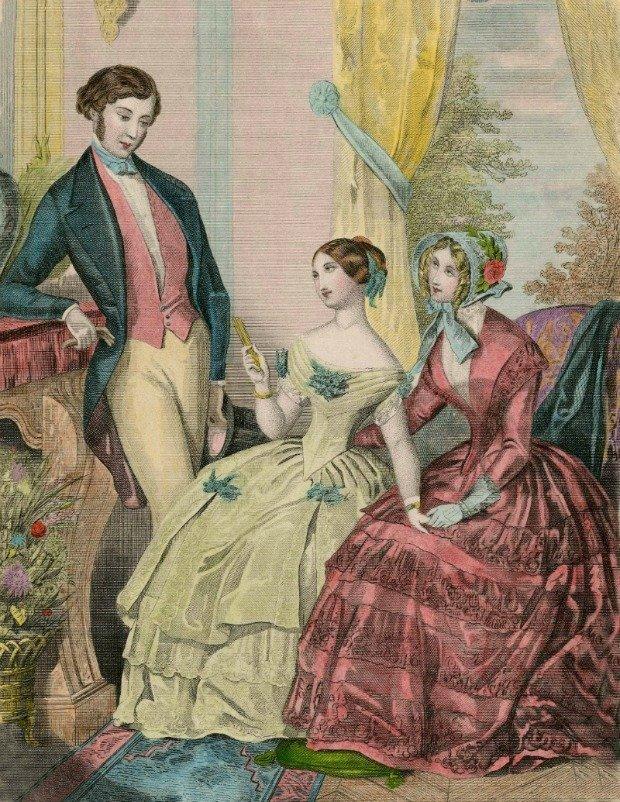 Le Follet 1848 Fashion Plate via Met Museum
