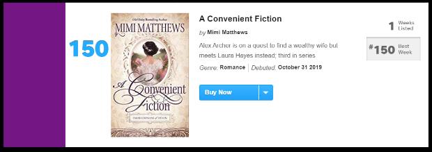 USA Today Bestseller List A Convenient Fiction by Mimi Matthews October 31