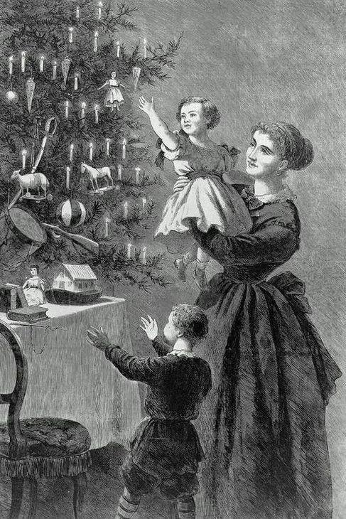 The Christmas Tree by John Ehninger c. 1870