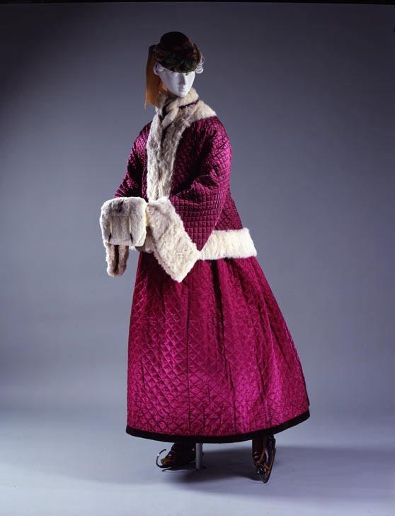 1863–67 Silk and Fur Skating Ensemble 1 via Met Museum