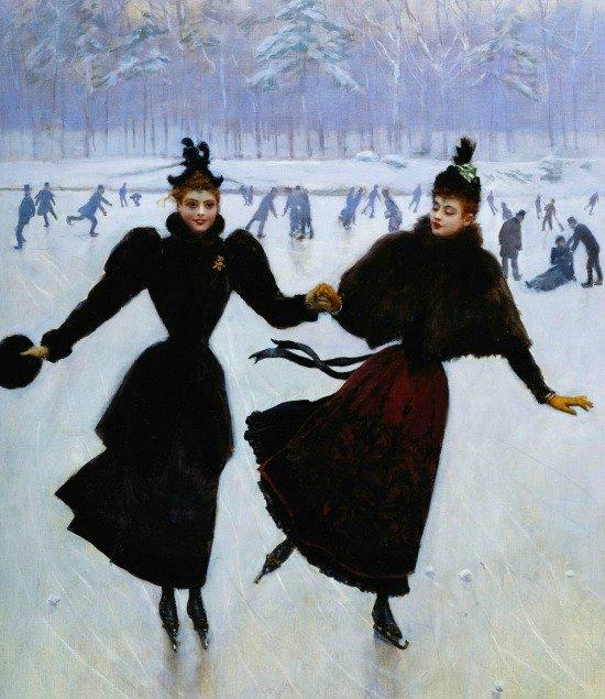 Women Skating by Jean Georges Beraud n.d. cropped 1