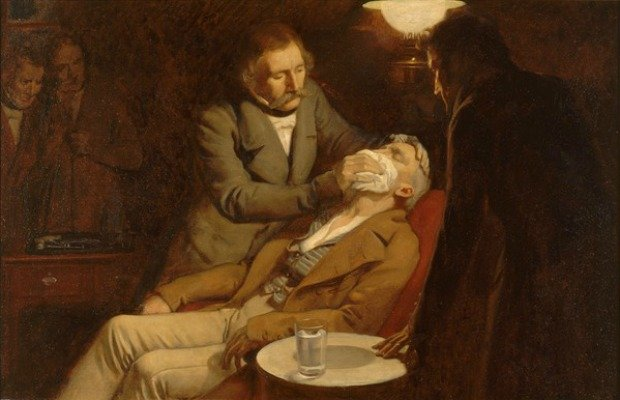 The first use of ether in dental surgery 1846. Ernest Board. Credit Wellcome Images CC BY 4.0