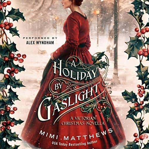 Audiobook cover for A Holiday by Gaslight audiobook by Mimi Matthews