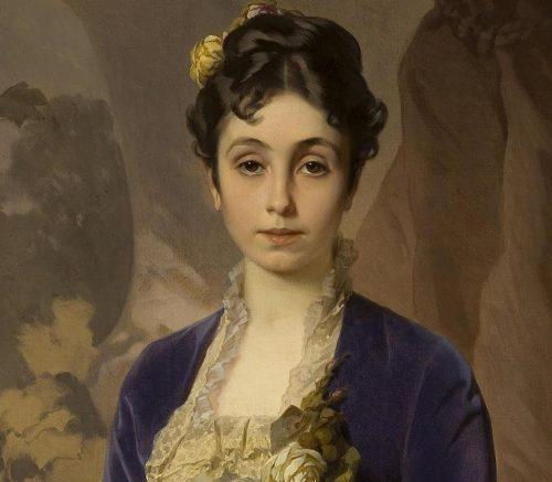 Portrait of Maria G. Raevskaya nee Gagarin by Unidentified Artist 1870 3