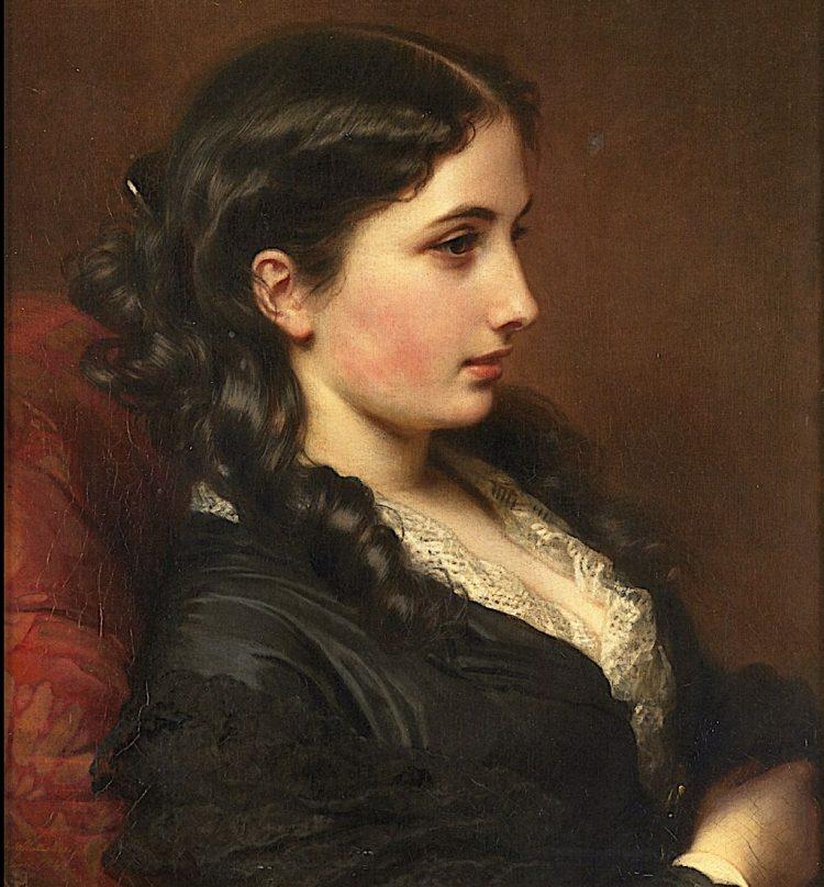 Study of a Girl in Profile by Franz Xaver Winterhalter 1862 e1630706502657